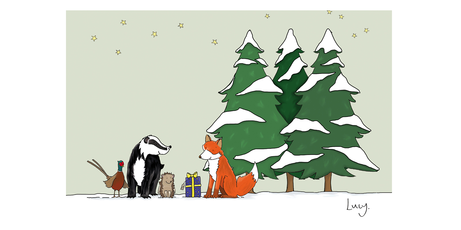 Woodland Animals, Christmas Cards